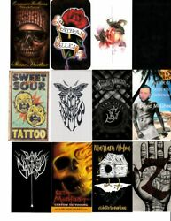 144 Different American Tattoo Shop Business Cards Set 3