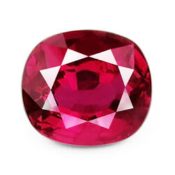 Burma Ruby 1.57ct Rare Aaa Red Color 100 Natural Earth Mined Gil Certified