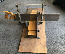 Stanley Mitre Box 346a Stanley 26 X 4 Saw And Cast Iron Adjustable Base