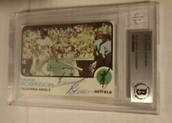 1973 Topps Signed Frank Robinson Orioles Reds Dodgers Beckett Bas Autographed