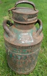 Vintage 5 Gallon Oil Can Cities Service Ellisco Embossed Gas Antique