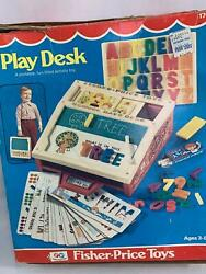 Vintage Fisher Price Play Desk With Box 1972 176