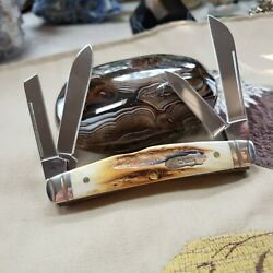 Case Xx Stag Congress Knife 2011 Wow Perfect First Fluted Rare