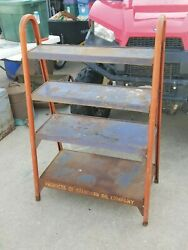 Vintage Gas Station Standard Oil Can Rack Display Collectiblegas Oil Advertising