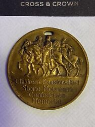 Vintage Stone Mountain Childrenand039s Confederate Founders Roll Medal Token