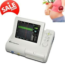 Lcd Color Display Twins Fhr Ultrasound Toco Probe+ Printer Fetal Monitor 8.4 A+