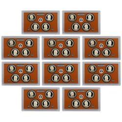2012 S Presidential Dollar Proof Set 10 Pack 40 Coins No Boxes Or Coa's Us Coins