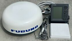 Furuno 1715 2.2kw 18andrdquo Marine Radar System Complete W/ Cables Display Scanner