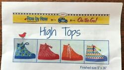Row By Row Junior Quilting Quilt Kit High Tops Fabric And Instructions 9x36