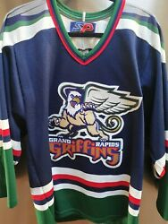 Vintage Grand Rapids Griffins Ahl Hockey Jersey Adult Size Small