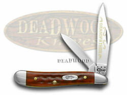 Case Xx Grandfather Peanut Knife Old Red Bone 1/500 Stainless Pocket Knives