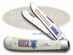 Case Xx Nra National Rifle Association Trapper Knife White Bone Stainless