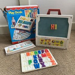 Vintage Fisher Price 1972 Play Desk Portable School Days 176 With Box