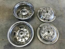 05 Winnebago Journey 34h Used Dually Chrome Wheel Covers Front/rear 22.5 Type