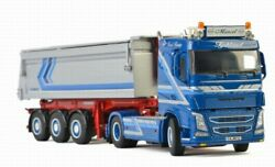 Wsi For Volvo Fh4 Sleeper Cab 4x2 Tipper Trailer For Augst Baustoffe 1/50 Model
