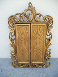 Vintage 70's Sarah Coventry Inc. Gold Jewelry Wall Cabinet W/mirror