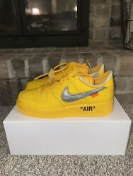 Off White Air Force One Low Andldquouniversity Goldandrdquo Size 9