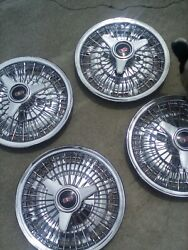 Vintage Olds Cutlass Factory 14 Inch Hubcaps Wheel Cover