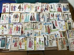 Lot Of 50 Vintage 1960-70s Sewing Patterns Butterick Simplicity Mccalland039s Many Uc