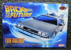 Back To The Future Polar Lights Time Machine 125 Snap It Model Kit Complete.