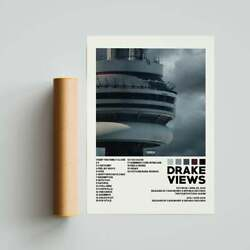 Drake Album Cover Poster Views Tracklist Nothing Was The Same Poster No Framed