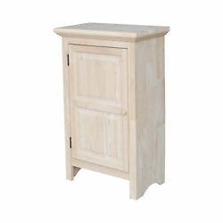 Rustic Traditional Jelly Cupboard Cabinet Solid Wood Kitchen Storage Unfinished