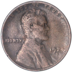 1924 D Lincoln Wheat Cent Very Good Penny Vg See Pics J432