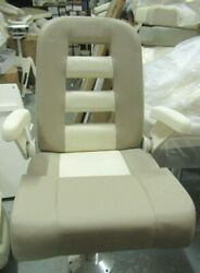 Grady White Deluxe Iii Helm Seat W/ Fold-up Arms, Flip-up Bolster, 2-toned