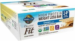 Garden Of Life Organic S'mores High Protein Bars For Weight Loss - 12 Bars