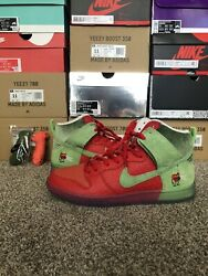 Nike Sb Dunk High Strawberry Cough Worn Once Size 10.5 100 Authentic