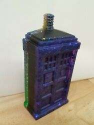 Hand Made Resin Doctor Who Tardis Rainbow Paperweight