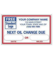 Automotive Next Oil Change Due Static Cling Stickers Labels Deluxe-nebs 1690c