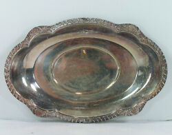 English Silver Mfg Corp Tray Made In Usa Vintage Plate 9x6