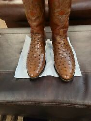 Lucchese Classic Full Quill Cigar Brown Western Boots Size 11 D