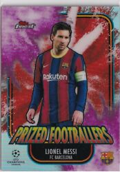 2020-21 Topps Finest Lionel Messi Prized Footballers Red Pink Fusion