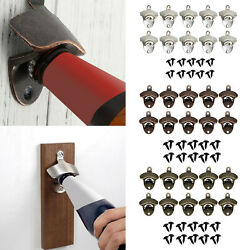 10x Classic Wall Mounted Bottle Opener Essential Beer Opener For Home Bar