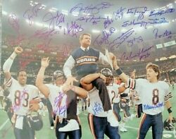 1985 Chicago Bears Super Bowl Xx Signed 16x20 Photo - 27 Sig. Ditka And Singletary
