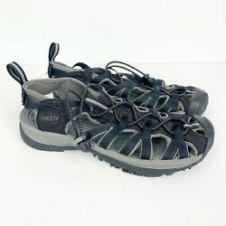 Keen Menand039s Black Waterproof Leather Newport Sandals Shoes Water Outdoor Size 8