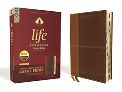 Niv, Life Application Study Bible, Third Edition, Large Print, Leathersoft, Red