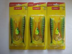 3 Nib Hart Combo Absolut Shads 120mm. 40gm. Fire Tiger Pike And Saltwater