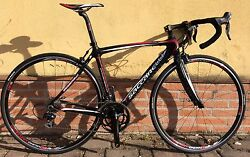 Racing Bicycle Carbon Saccarelli Fire Speed Shimano 105 10s Carbon Road Bike