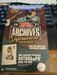 2021 Topps Archives Signature Edition Retired Players Factory Sealed Box