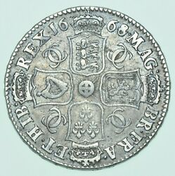 Rare 1668/4 Halfcrown 8 Over 4 British Silver Coin From Charles Ii Avf/vf S.668