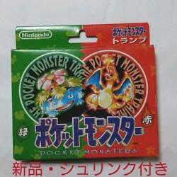 Pokemon Playing Cards Red And Green Nintendo Poker Card 1995 Very Rare And Old