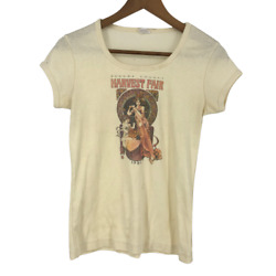 Sonoma County Vintage Womens Top T-shirt Graphic Print Harvest Fair Ivory Xs