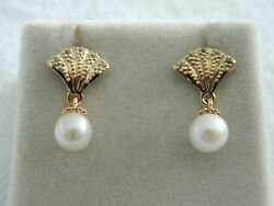 Clogau 9ct Yellow And Rose Gold Windsor Pearl Stud Earrings Rrp £250.00