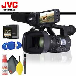 Jvc Gy-hm620 Prohd Mobile News Camera + Memory Card Kit + Cleaning Kit