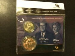 Presidential 1 Coin And First Spouse Lot Of 15 Sets With Ronald And Nancy Reagan