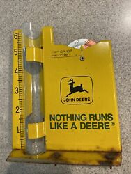 Vintage 1970and039s John Deere Rain Gauge And Recorder Old Logo Fairly Good Condition