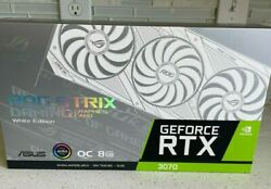Asus Rog Strix Nvidia Geforce Rtx 3070 White Oc Edition Brand New And Sealed